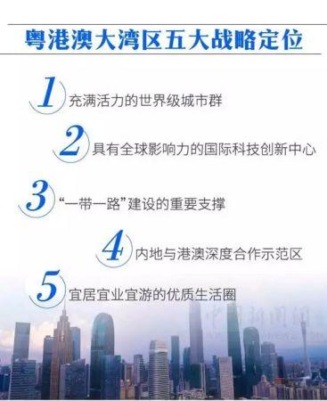 粤港澳大湾区五大战略定位。(中新网制图)