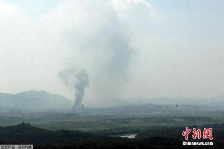 当地时间6月16日,韩国统一部证实,位于朝鲜开城工业园内的朝韩联络办公室大楼被爆破。